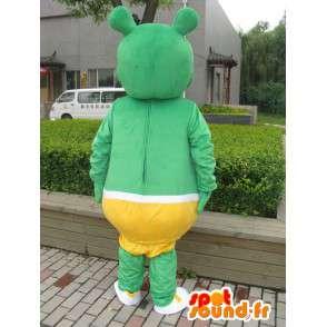 Μωρό Πράσινο τέρας μασκότ κίτρινο εσώρουχα - βελούδινα κοστούμι μωρό - MASFR00315 - Μασκότ μωρό