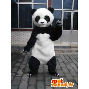 Panda μασκότ κλασικό μαύρο και λευκό αρκουδάκι - Βραδινά κοστούμια