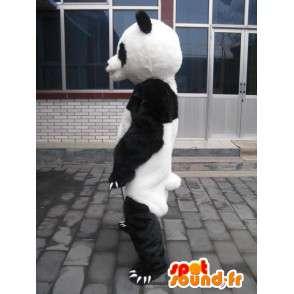 Panda Mascot klassiek zwart-wit teddy - Evening Suit - MASFR00212 - Mascot panda's