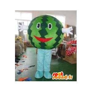 Vattenmelonhuvudmaskot - Frukt i förklädnad - Sommardräkt -