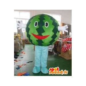 Vesimeloni maskotti pää - Hedelmät Costumes- ollut Suit