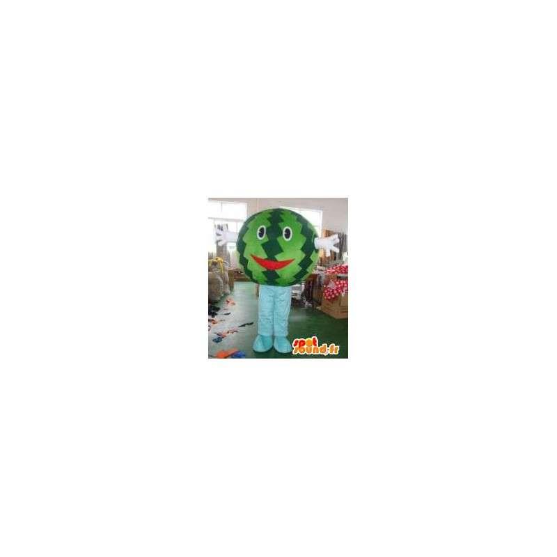 Vesimeloni maskotti pää - Hedelmät Costumes- ollut Suit - MASFR00312 - hedelmä Mascot