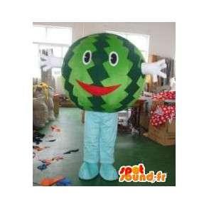 Maskottchenkopf Wassermelone - Obst-Kostüm verkleidet war - MASFR00312 - Obst-Maskottchen