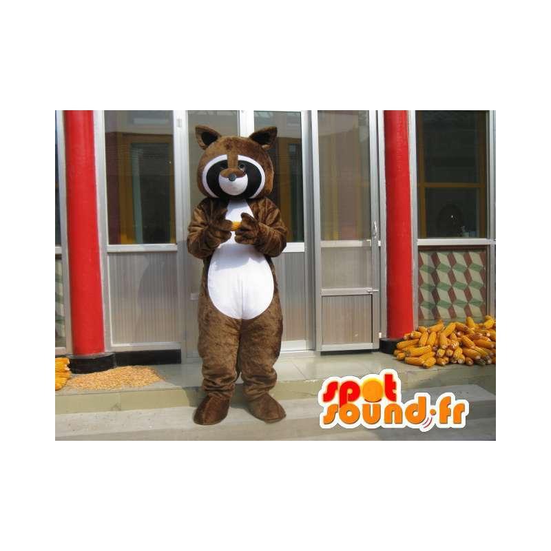 Mascotte raton laveur - Furet marron - Idéale Seesmic - Envoi rapide - MASFR00273 - Mascottes de ratons