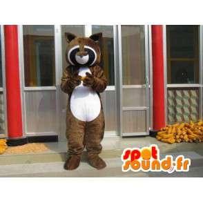 Raccoon mascotte - Bruin Ferret - Ideaal Seesmic - Fast shipping - MASFR00273 - Mascottes van pups