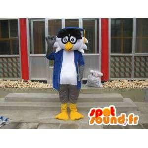 Professor Linux mascotte - Uccello con accessori - Trasporto veloce