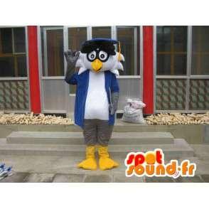 Professori Linux maskotti - Bird varusteineen - Nopeita toimituksia - MASFR00421 - maskotti lintuja
