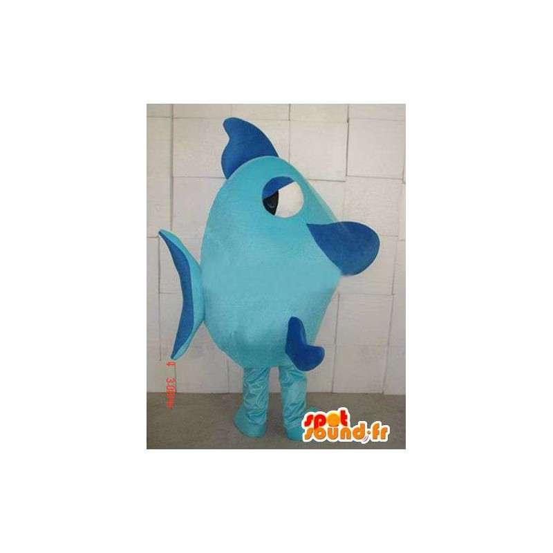 Maskot Modré ryby - kvalitní tkaniny - mořský živočich Costume - MASFR00417 - rybí Maskoti