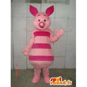 Mascotte de porcinet - Cochon rose - ami de Winnie l'ourson - MASFR00537 - Mascottes Winnie l'ourson