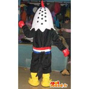 Maskot kohout boxerské rukavice s puncher - Bižuterie thai boxer - MASFR00318 - Maskot Slepice - Roosters - Chickens