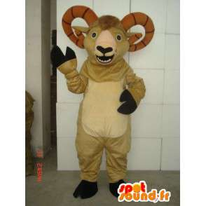 Mascota de cabra montés pirenaica - ovejas de peluche - Traje de cabra - MASFR00320 - Cabras y cabras mascotas