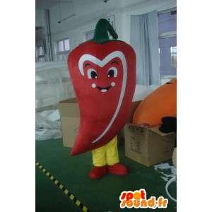 Rød peber maskot - Krydret vegetabilsk kostume - Begivenheder -