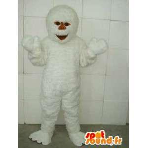 イエティのマスコット-雪と洞窟の動物-白い衣装-MASFR00219-行方不明の動物のマスコット