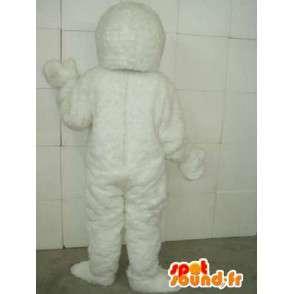Mascot Yeti - Pet-lumiluolan - valkoinen puku - MASFR00219 - Mascottes animaux disparus