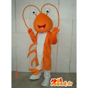 Mascotte Homard Orange - Costume de thalassa marin - Peluche