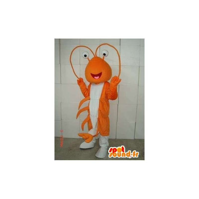 Orange Lobster Mascot - Costume Thalassa sea - Plush - MASFR00415 - Mascots lobster
