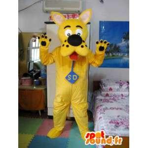 Mascotte de Scooby Doo - Modèle jaune - Costume de chien détective