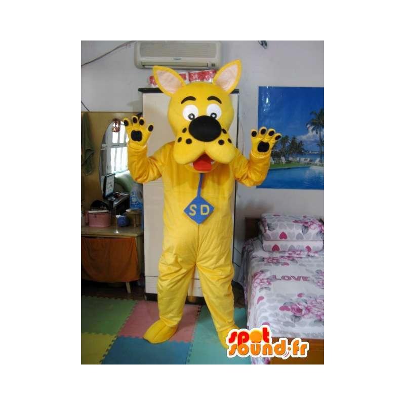 Μασκότ Σκούμπι Ντου - Κίτρινο Μοντέλο - Ντετέκτιβ Dog Κοστούμια - MASFR00543 - Μασκότ Dog