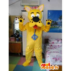 Maskot Scooby Doo - Yellow Model - Detective Dog Costume - MASFR00543 - psí Maskoti