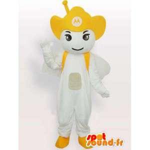 Żółty Mascot Motorola Antenna - mobile Anioł