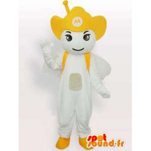 Amarelo Mascot Motorola Antenna - Anjo móvel