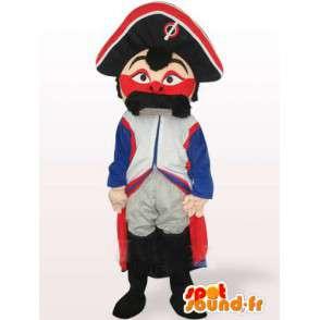 Francuski Żandarm maskotki wąsy-Military czerwony biały niebieski - MASFR00549 - Mężczyzna Maskotki