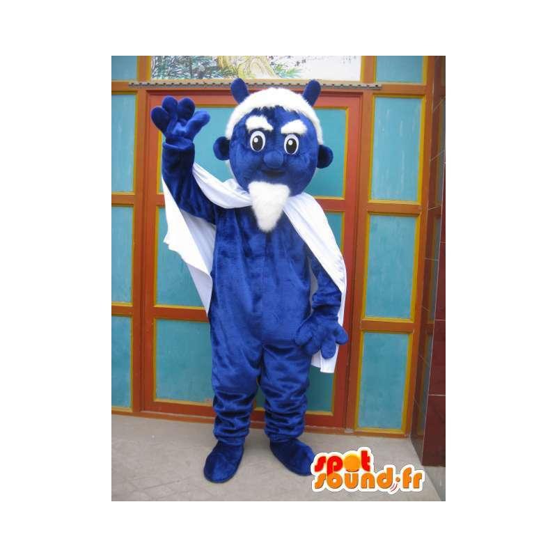 Mascote do diabo azul com capa e acessórios - Costume Monstro - MASFR00551 - mascotes monstros
