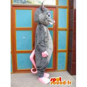 Maskotti harmaa ja vaaleanpunainen hiiret - Ratatouille Costume - Disguise - MASFR00555 - hiiri Mascot