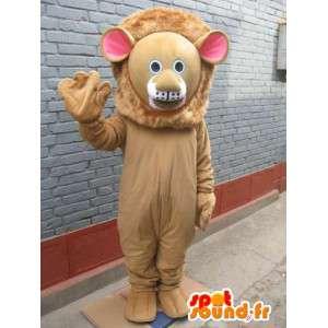 Lion Mascot - kotów Savannah w kostium - zwierzę