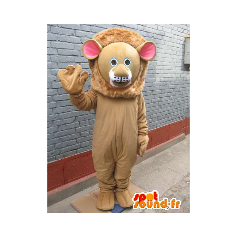 Leone mascotte - il costume Feline savana - animale - MASFR00558 - Mascotte Leone