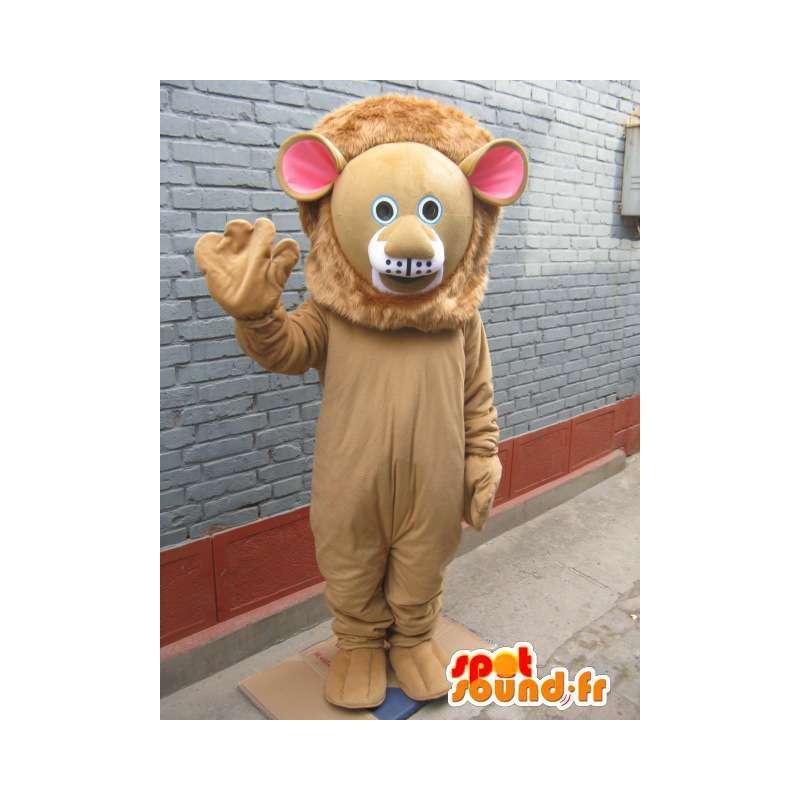 Lion maskot - Feline Savannah v kostýmu - zvíře - MASFR00558 - lev Maskoti