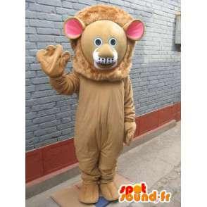 Mascotte van de Leeuw - Feline savanne in kostuum - dierlijke - MASFR00558 - Lion Mascottes
