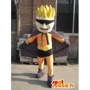 Superhero maschera mascotte arancione e nero - Costume uomo - MASFR00559 - Umani mascotte