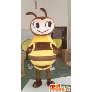 Bee Mascot brown and yellow - Suit for beekeeper