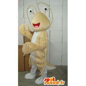 Lobster Beige-Maskottchen - Kostüm Thalassa sea - Fisch