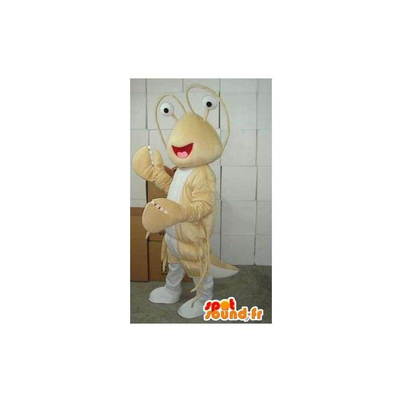 Lobster Beige-Maskottchen - Kostüm Thalassa sea - Fisch - MASFR00565 - Maskottchen Hummer