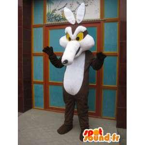 Mascot Coyote Road Runner en Coyote - brown fox kostuum