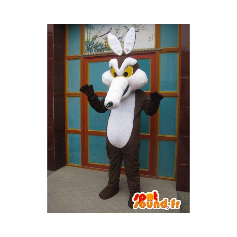 Mascot Coyote Road Runner en Coyote - brown fox kostuum - MASFR00568 - Fox Mascottes