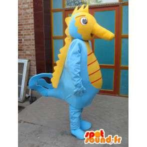 Hippokampus maskotti - Eläinten Costume ocean - keltainen ja sininen - MASFR00569 - Maskotteja meressä