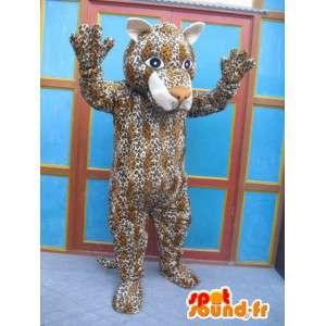 Panther Mascot rayado - Traje del gato - Disfraces Savannah