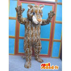 Raidallinen Panther maskotti - kissa puku - Savannah Disguise