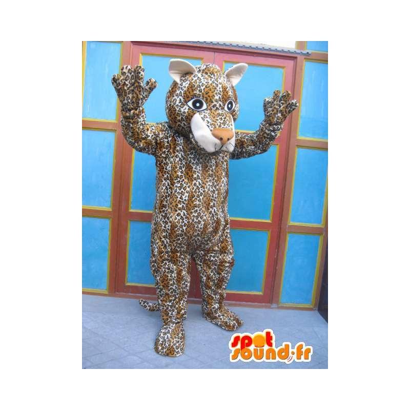 Panther Mascot rayado - Traje del gato - Disfraces Savannah - MASFR00575 - Mascotas de tigre