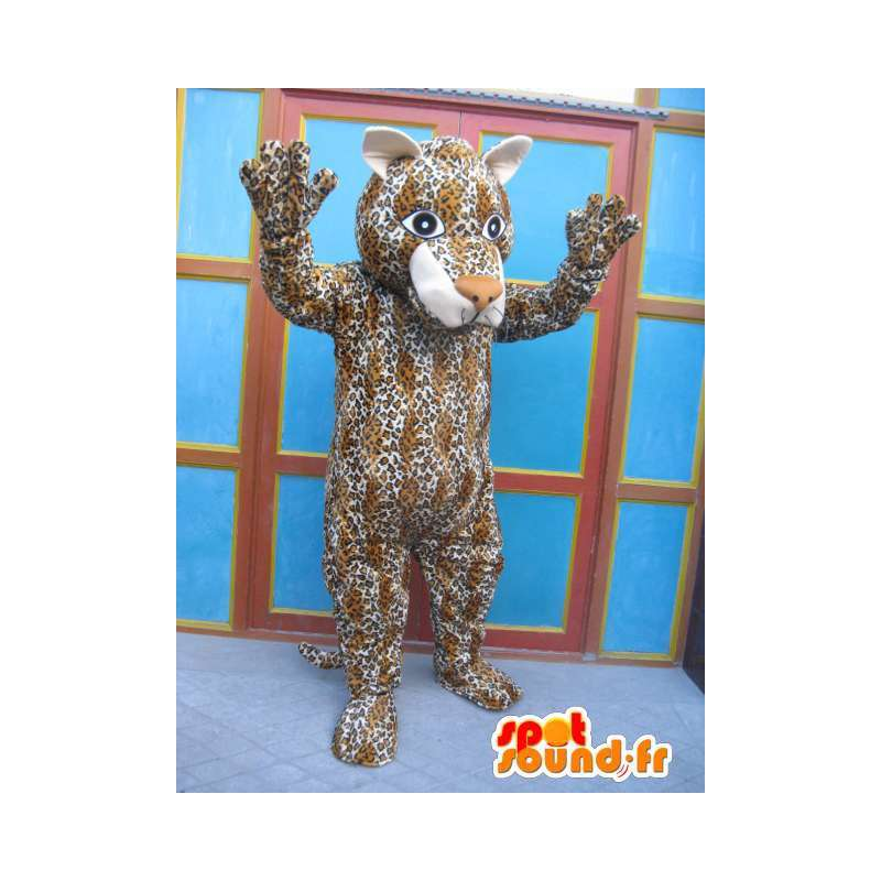 Striped panther mascot - Cat Costume - Disguise savannah - MASFR00575 - Tiger mascots