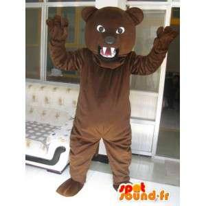 Mascotte ours marron massif - Peluche - Déguisement ours brun