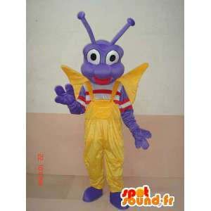 マスコット蝶の幼虫の昆虫 - コスチュームお祝いの文字