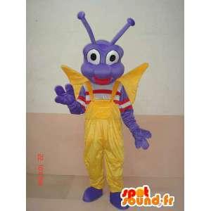 Mascot insecto larva de mariposa - carácter del traje festivo