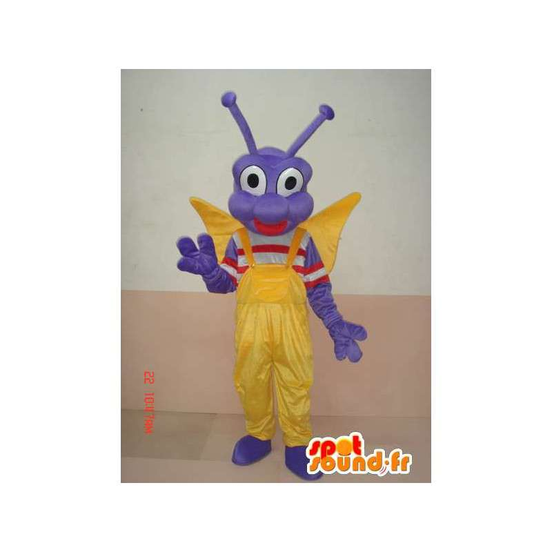Mascot insect larva Butterfly - Costume character festive - MASFR00583 - Mascots Butterfly