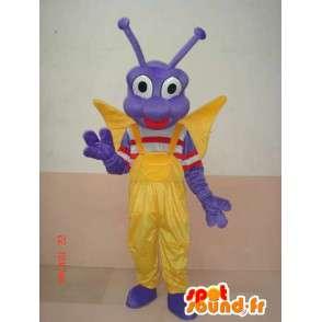 Mascot πεταλούδα προνύμφη εντόμων - Στολή εορταστικό χαρακτήρα - MASFR00583 - μασκότ πεταλούδα