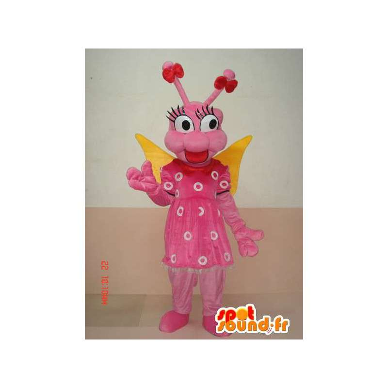 Mascot vlinderlarve insect - Roze fun Disguise - MASFR00584 - mascottes Butterfly
