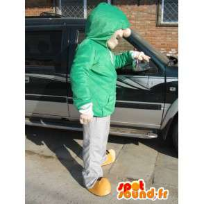 Mascot Man Street Wear - Skater Boy Costume - Green Sweat - MASFR00585 - Human mascots